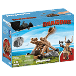How to Train Your Dragon - Gobber with Catapult PlayMobil Construction Set - Packshot 3