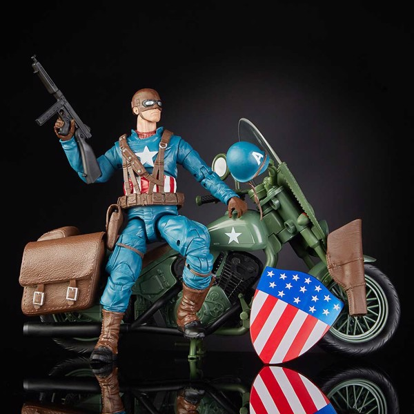 Marvel - Legends Ultimate Vintage Captain America Vehicle Action Figure - Packshot 2