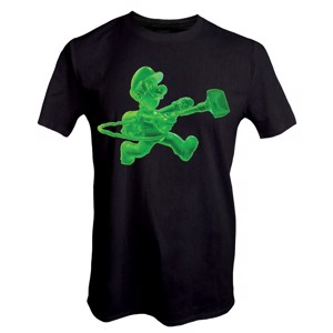 Nintendo - Luigi's Mansion 3 Gooigi Glow In The Dark T-Shirt - Black