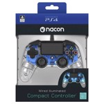 Nacon PS4 Illuminated Wired Gaming Controller - Light Blue - Packshot 3