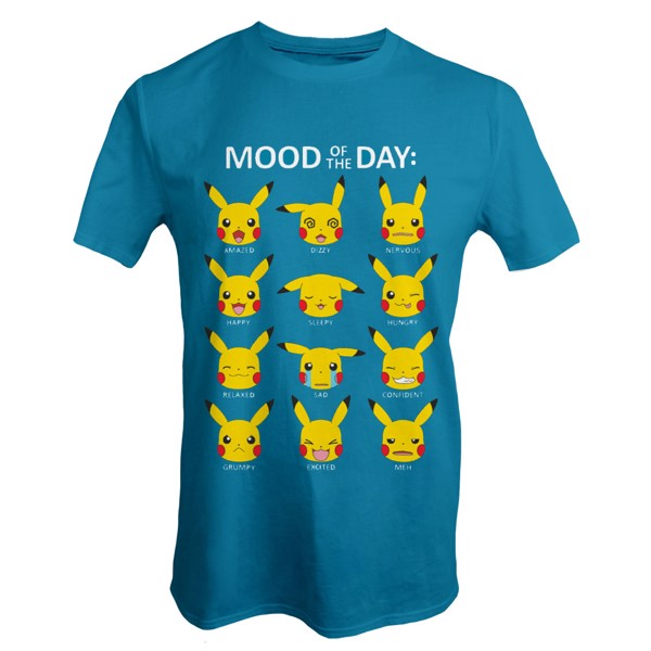 73468394 Pokemon - Pikachu Mood of the Day T-Shirt - Size: S - EB Games Australia