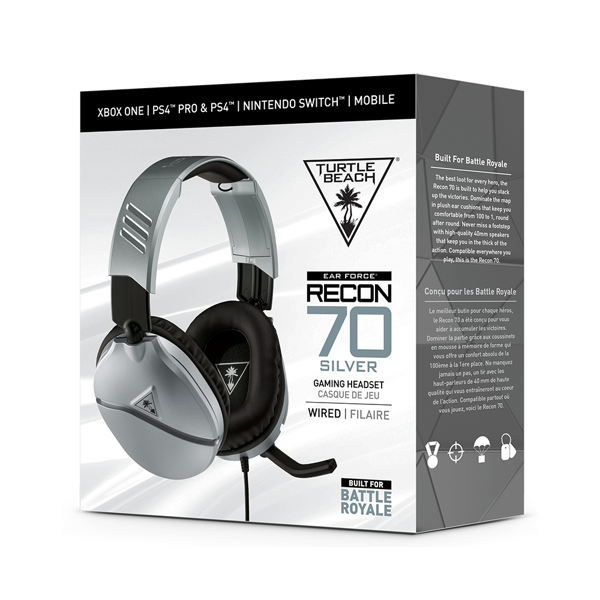 Turtle Beach® Recon 70 Gaming Headset - Silver - Packshot 2
