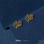 Disney - Aladdin - Jasmine Lotus Short Story Gold Stud Earrings - Packshot 2