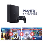 PlayStation 4 1TB Console + 4 Games - Packshot 1