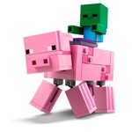 Minecraft - LEGO BigFig Pig with Baby Zombie - Packshot 3