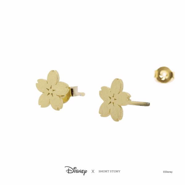 Disney - Mulan - Sakura Short Story Gold Stud Earrings - Packshot 3