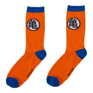Dragon Ball Z - Goku Logo Orange and Blue Socks