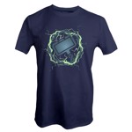 Marvel - Avengers - Thor Hammer Glow In The Dark T-Shirt - Packshot 1