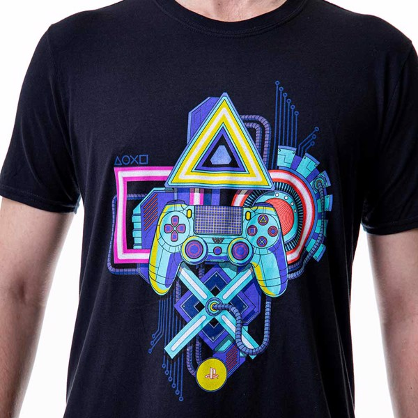 Sony - PlayStation Neon Lights T-Shirt - M - Packshot 5