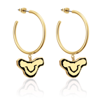 The Lion King - Baby Simba Gold Hoop Earrings - Packshot 1