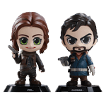 Star Wars - Rogue One - Jyn & Cassian Set of 2 Cosbaby Vinyl Hot Toys Figures - Packshot 1
