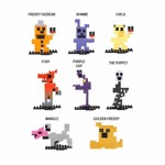Five Nights at Freddy's - 8-Bit Figure Series 1 Construction Set (Assorted) - Packshot 1