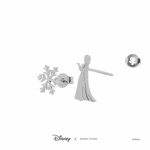 Disney - Frozen - Elsa & Snowflake Short Story Silver Stud Earrings - Packshot 3