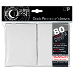 Ultra Pro - 80 Eclipse Deck Protector Sleeves - White Matte - Standard Size - Packshot 1