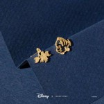 Disney - The Little Mermaid - Flounder & Sebastian Short Story Gold Stud Earring - Packshot 2