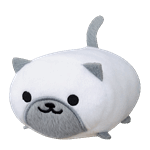 "Neko Atsume - Marshmallow 4"" Plush - Packshot 1"
