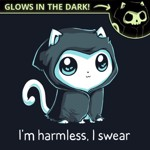 Grim Kitty Glow in The Dark T-Shirt - Packshot 3