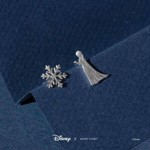 Disney - Frozen - Elsa & Snowflake Short Story Silver Stud Earrings - Packshot 2