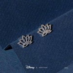 Disney - Aladdin - Jasmine Lotus Short Story Silver Stud Earrings - Packshot 2