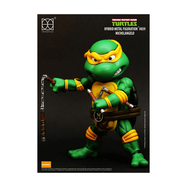 Teenage Mutant Ninja Turtles - Michelangelo 14cm HEROCROSS Hybrid Metal Figure - Packshot 2