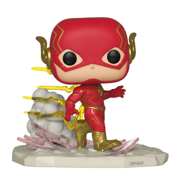 DC Comics - The Flash - Running Flash Jim Lee Comic Moment Pop! Vinyl Figure - Packshot 1