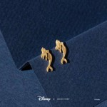 Disney - The Little Mermaid - Ariel Short Story Gold Stud Earrings - Packshot 2