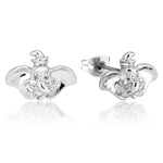 Disney - Dumbo Face White Gold Stud Earrings - Packshot 1