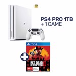 PlayStation 4 Pro 1TB White Console + 1 Game - Packshot 1