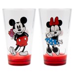 Disney - Mickey & Minnie Mouse #LoveYou Drinking Glass 2-Pack