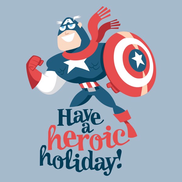 Marvel - Captain America - A Hero Holiday T-Shirt - L - Packshot 2