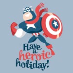 Marvel - Captain America - A Hero Holiday T-Shirt - Packshot 2