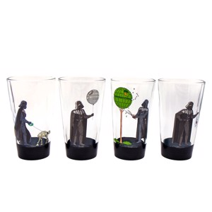 Star Wars - Darth Vader's Free Time Glass Set of 4