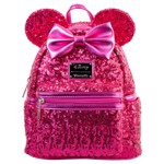 Disney - Minnie Ears & Bow Sequin Pink Loungefly Mini Backpack - Packshot 1