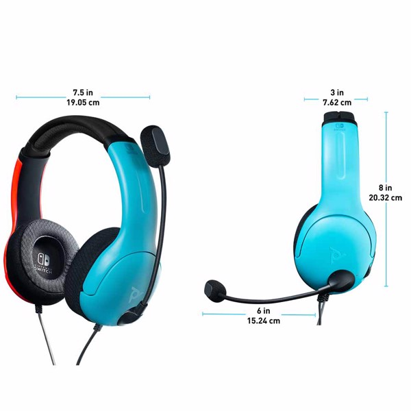 Nintendo Switch PDP Gaming LVL40 Wired Stereo Headset - Colour Block - Packshot 4
