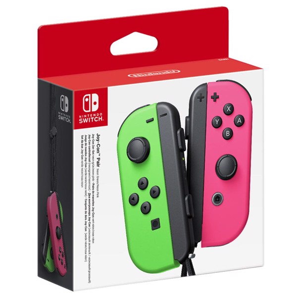Nintendo Switch Joy-Con Neon Green and Neon Pink Controller Set - Packshot 1