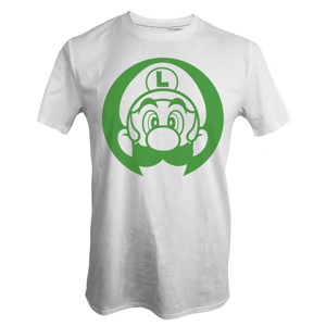 Nintendo - Super Mario Bros - Luigi Face T-Shirt - Clothing