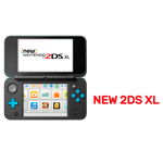 Nintendo 2DS XL Blue & Black Console + 1 Game - Packshot 2