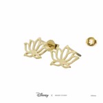 Disney - Aladdin - Jasmine Lotus Short Story Gold Stud Earrings - Packshot 3