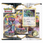 Pokemon - TCG - Sword & Shield: Rebel Clash Three Booster Blister - Packshot 2