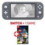Nintendo Switch Lite Console Grey + 1 Game - Packshot 1