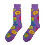 The Simpsons - Food Purple Socks - Packshot 1