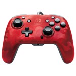 Faceoff Deluxe+ Audio Wired Controller - Red Camo - Packshot 1