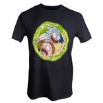 Rick and Morty - Spinning Portal Grey T-Shirt - Packshot 1
