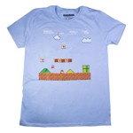 Super Mario Brothers - Stage 1 Blue T-Shirt - Packshot 1