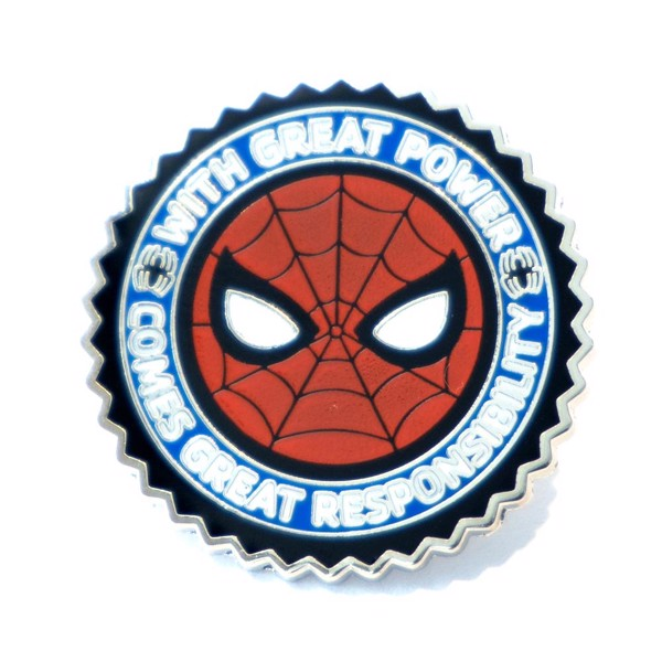 Marvel - Spider-Man Mask & Motto Enamel Pin - Packshot 1