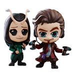 Marvel - Guardians of the Galaxy: Vol. 2 - Star Lord & Mantis Cosbaby Vinyl Hot Toys 2-Pack Figure - Packshot 1
