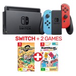Nintendo Switch Neon Console + 2 Games - Packshot 1