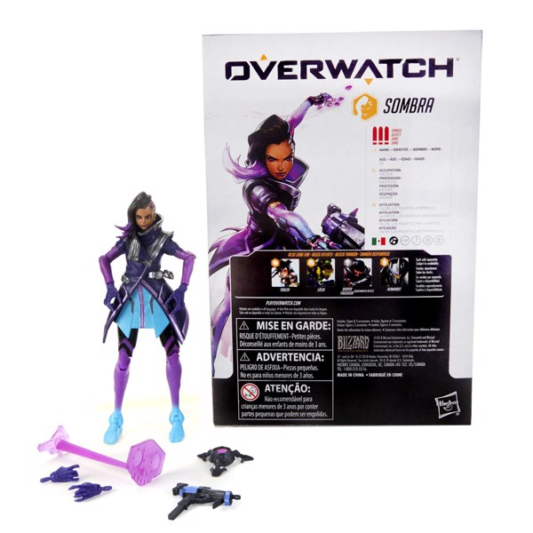"Overwatch - Sombra 6"" Ultimates Series Collectible Action Figure - Packshot 2"