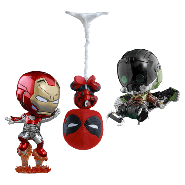 Marvel - Spider-Man: Homecoming - Spider-Man Hot Toys Cosbaby 3-Pack Figure - Packshot 1