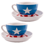 Marvel - Captain America Tea Cup & Saucer Set of 2 - Packshot 1